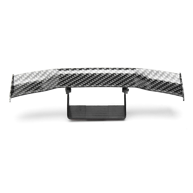 Mini Carbon Fiber Rear Tail Spoiler Wing Empennage Body Kit Trim Decoration