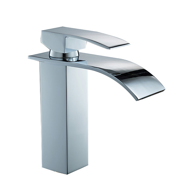 Bathroom Sink Faucet - Widespread Electroplated Centerset Single Handle One HoleBath Taps