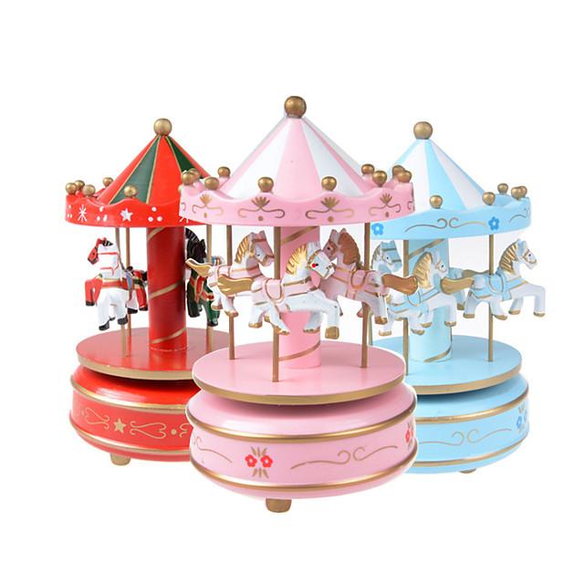 Tambourine Carousel Music Box Wooden Music Box Antique Music Box Cute Sound Unique Plastic Women's Unisex Girls' Kids Kid's Adults Baby 1 pcs Graduation Gifts Toy Gift