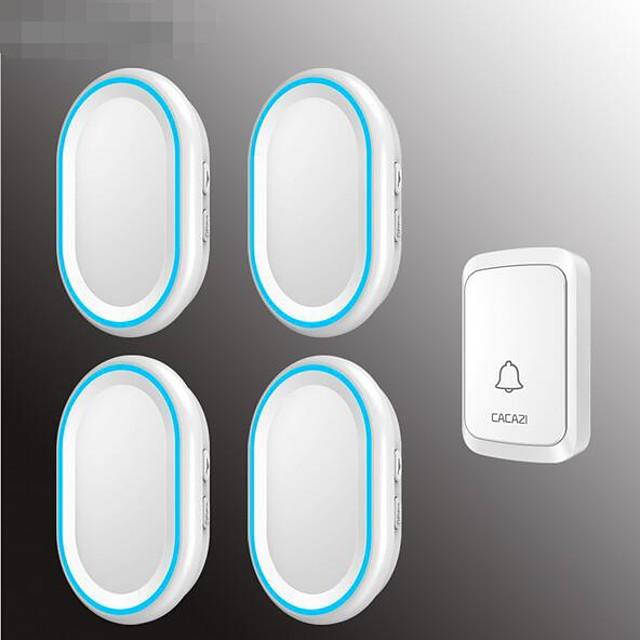 Intelligent digital wireless home music doorbell One for four long distance waterproof 58 music with memory doorbell