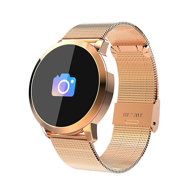 IMOSI Q8 Smartwatch Stainless Steel BT Fitness Tracker Support Notify/ Heart Rate Monitor Sport Bluetooth Smartwatch Compatible IOS/Android Phones