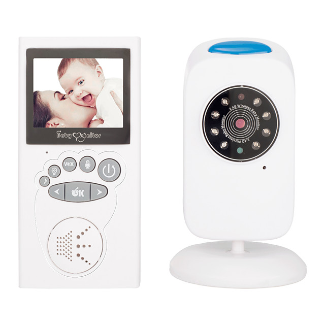 1MP Video Baby Monitor With One Digital Camera Color LCD ScreenInfrared Automatic Night VisionTemperature Sensor 2-Way Talk Support Up To 1000ft Stable Transmission