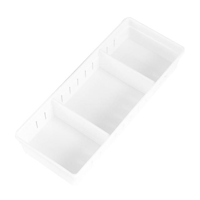 Plastic Adjustable Drawer Organizer Home Kitchen Board Divider Makeup Storage Boxes