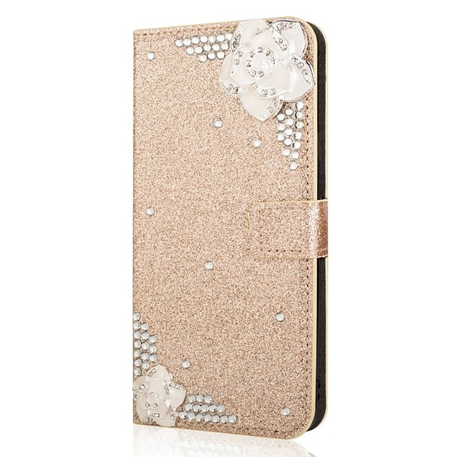 Case For Samsung Galaxy A51 A31 A71 Wallet / Card Holder / with Stand Glitter Shine Camellia PU Leather Case For Samsung A70E A41 A11 A21 A91 A81 A20e A10e A50s A30s A70s A20 M20 M10 A750 Note 20 Ultr