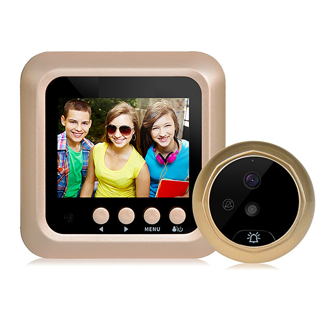 2.4 inch digital intelligent electronic visual cat's eye doorbell support video camera night vision large viewing angle