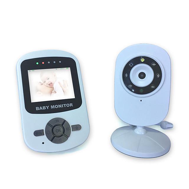 2.4 inch wireless digital baby monitor voice control power saving temperature display intercom music night light monitor