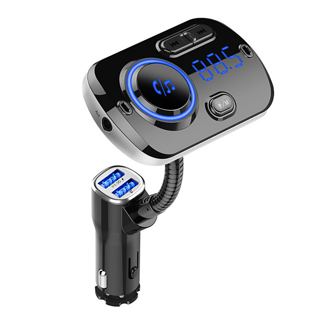 FM Transmitter Bluetooth 5.0 Car Handfree Kit MP3 Music Player Support TF Card/U Disk Playback Dual USB Fast Charge BC49A