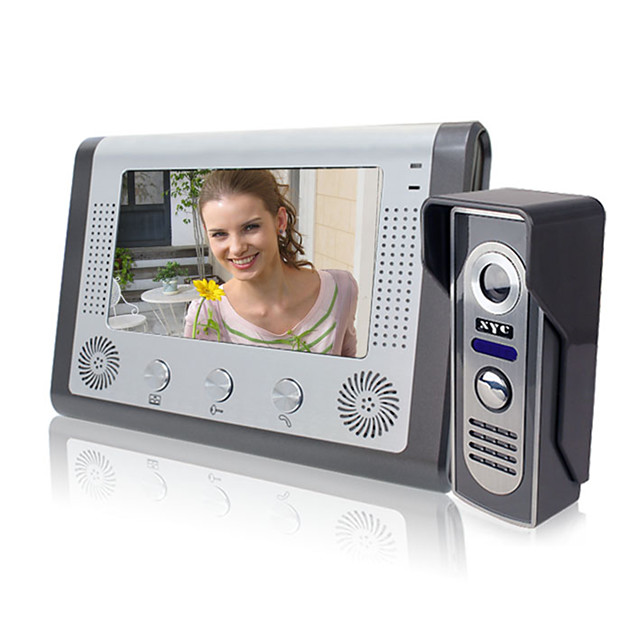 801M11 Wired Built in out Speaker 7 inch Hands-free 800*480 Pixel One to One video doorphone