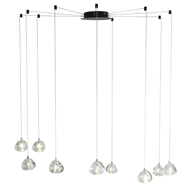 9-Light Modern Chandelier 9 Lights Hanging Lamp Dropping Pendant Ceiling Fixture Crystal G4 Led Bulbs Included for Dinning Living Office Cafe Room