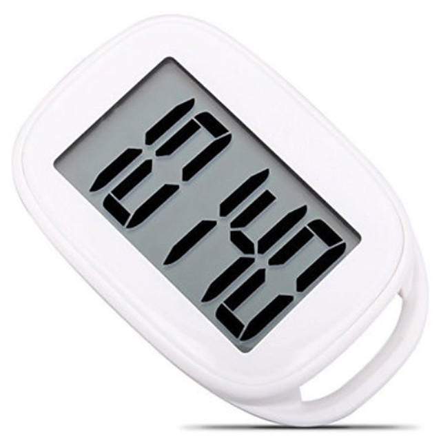 AU-878 Electronic Pedometer Other OS Outdoor / Phone Strap / Pedometers Gravity Sensor PP+ABS / Neoprene Pure White