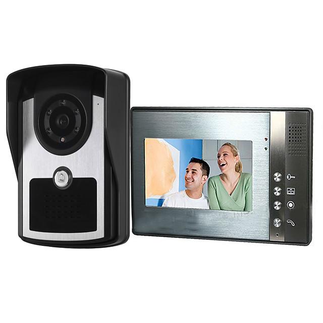 7 inch wired video doorbell HD villa video intercom outdoor unit night vision rain unlock function