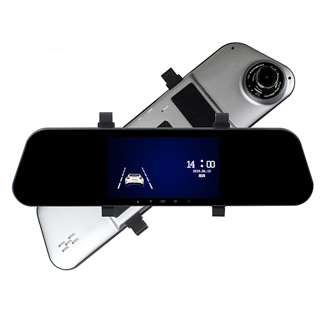 ZIQIAO A5 1080P Video / Boot Automatic Recording Car DVR 170 Degree 5 Inch HD IPS Touch Screen / Reversing Visual / Loop Video / G-Sensor / Motion Detection / Parking Monitoring Traffic Recorder