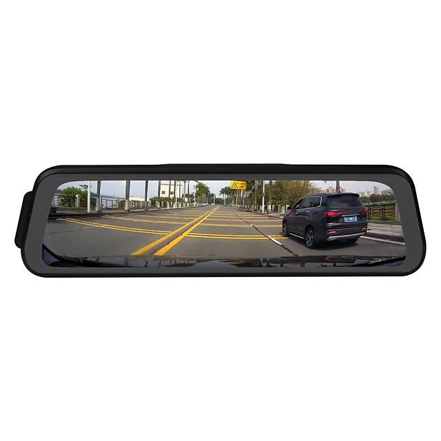 ZIQIAO H19 1296P Streaming Media Rear view Mirror Dash Cam Registrar Video Recorder 9.66 Inch IPS Night Vision Reversing Image car DVR Camera
