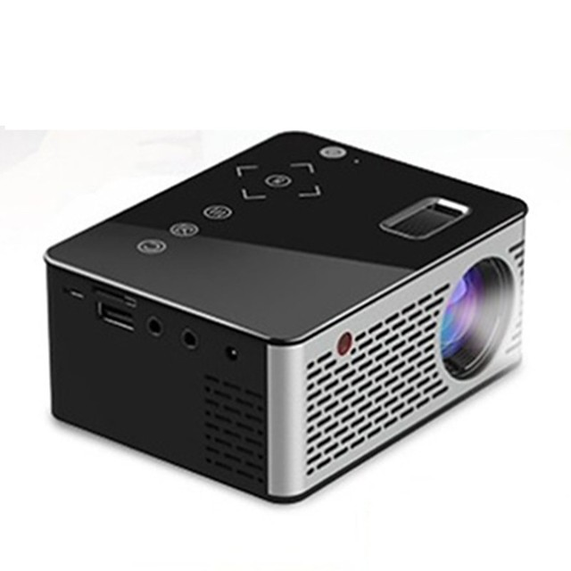 UNIC T200 Mini Portable Pocket LED Projector Home HD Children's Home Theater Projector Multimedia Player Compatible Support HDMI/USB/DC/AV/TF Card 5V-2A Power Black