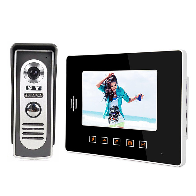 808M11 Wired Built in out Speaker 7 inch Hands-free 800*480 Pixel One to One video doorphone