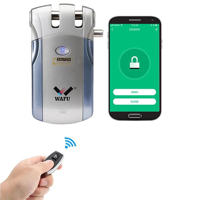 WAFU WIFI Smart Remote Control Door Lock App Invisible Security Door Lock with 315Mhz for Wooden Door Glass Door (WF-018W)