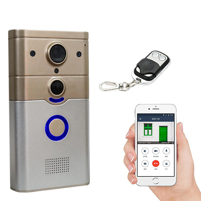 Factory OEM 720P WIFI 3.6mm Lens 100° Viewing Angle Doorbell No Screen(output by APP) Hands-free One to One Video Doorphone Smart Home Decor Door Accessories