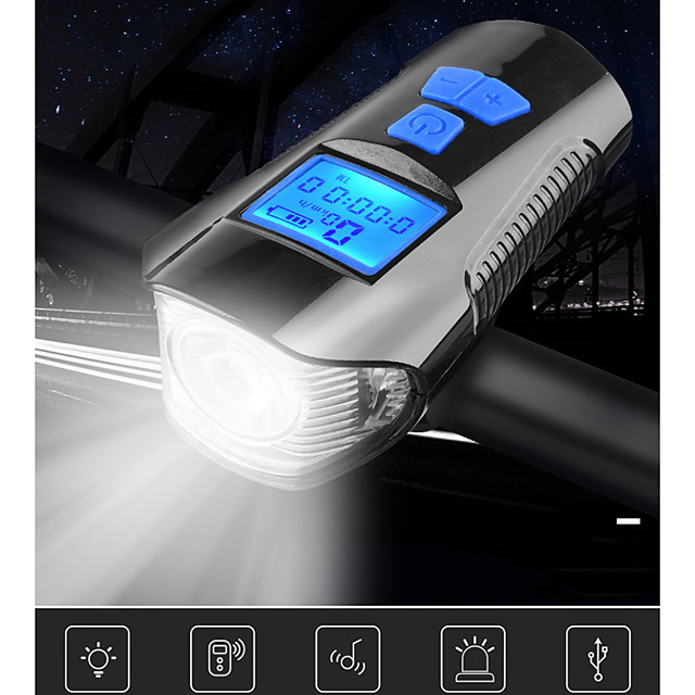 LED Front Bike Light Bike Light with Horn Bike Computer Speedometer Bicycle Cycling Waterproof 3 in 1 Multiple Modes Smart Induction 350 lm Rechargeable USB White Cycling / Bike / Super Bright / 120