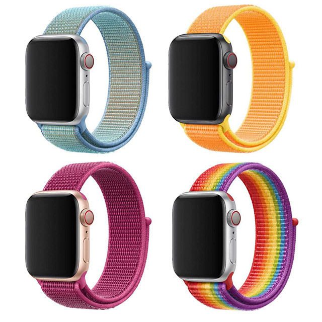 Compatible with for Apple Watch Band 38mm 40mm 42mm 44mm Soft Lightweight Breathable Sport Replacement Band for Watch Series 5 4 3 2 1 (38mm/40mm)