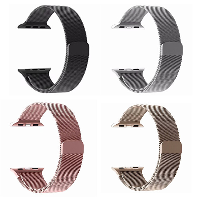 Watch Band for Apple Watch Series 6/SE/5/4/3/2/1 Apple Milanese Loop Stainless Steel Wrist Strap