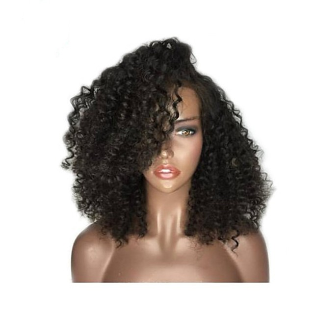 Synthetic Wig Afro Curly Layered Haircut Wig Medium Length Natural Black Synthetic Hair 38~42 inch Women's New Arrival Black