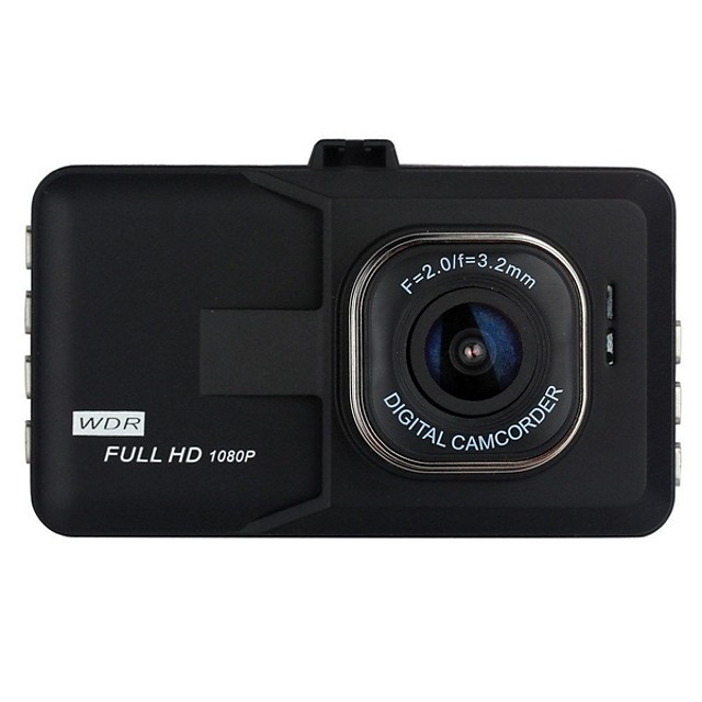 1080p Full HD Bil DVR 170 grader Bred vinkel 3 tommers LCD Dash Cam med Night Vision / G-Sensor / Bevegelsessensor Bilopptaker