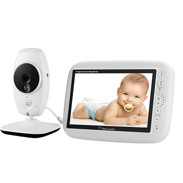 720P HD Wireless Baby Monitor Home Wireless Monitor Support 2 cameras Intercom Night Lights