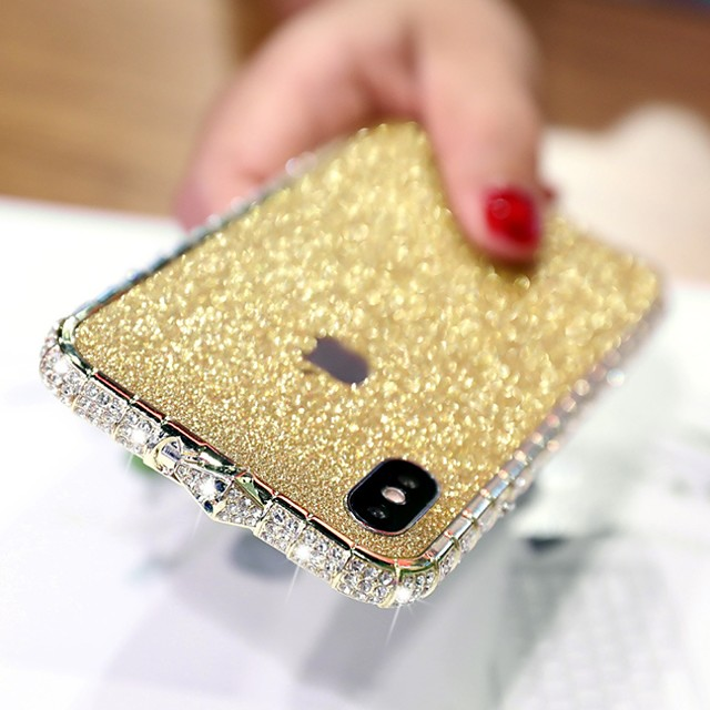 Bling Bling Case For Apple iPhone XR Rhinestone Diamond Case Back Cover Solid Colored Hard Metal Case for iPhone XS / iPhone XS Max