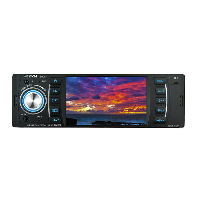 mp5-5008 4.1 inch 1 DIN Car MP5 Player MP3 / Built-in Bluetooth / SD / USB Support for universal Bluetooth Support MP4 MP3 JPEG / Radio / IR Remote Control