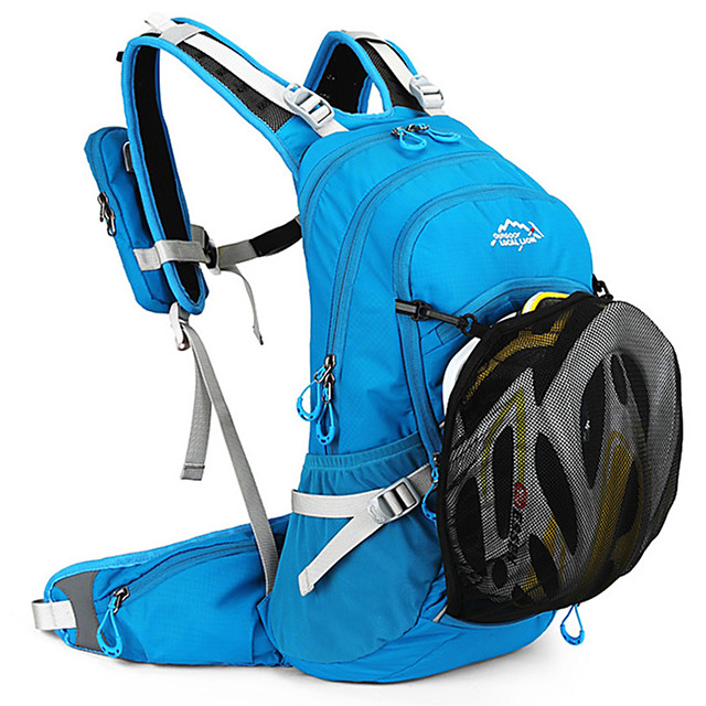 20 L Cycling Backpack Anti-Slip Adjustable Large Capacity Bike Bag Polyester Mesh Bicycle Bag Cycle Bag Hiking Running Camping