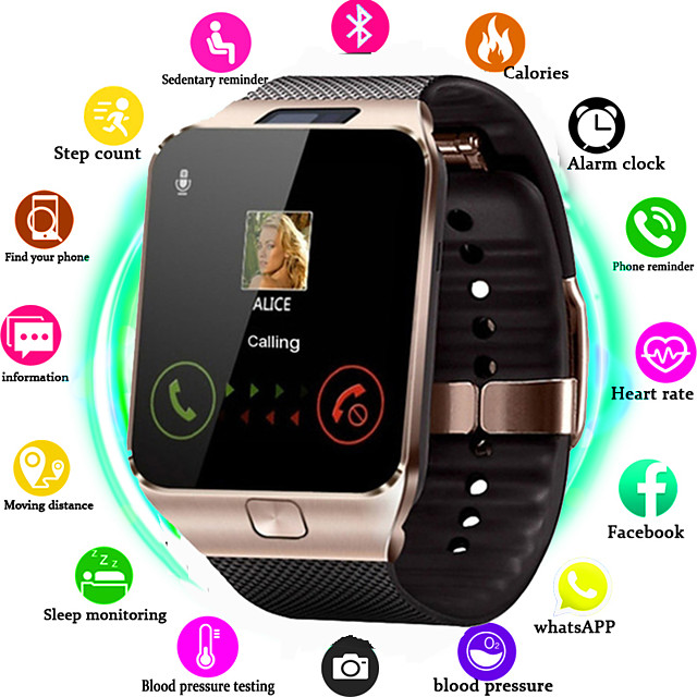 DS09 Smart Watch  Clock Support TF SIM Camera Men Women Sport Bluetooth Wristwatch for Samsung Huawei Xiaomi Android Phone