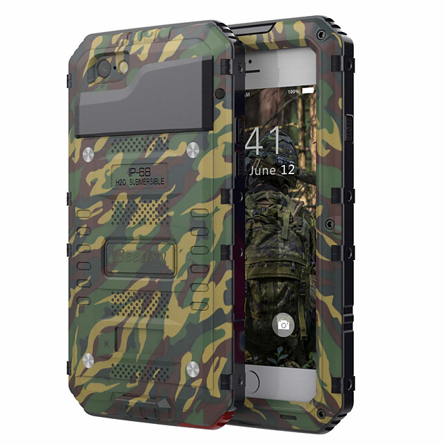 Case For Apple iPhone XS / iPhone X / iPhone 8 Plus Shockproof / Water Resistant Full Body Cases Armor Hard PC