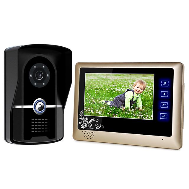 Com Fio Alto Falante Embutido 7 polegada Mãos Livres 800*480 Pixel Interfone de Vídeo Um para Um
