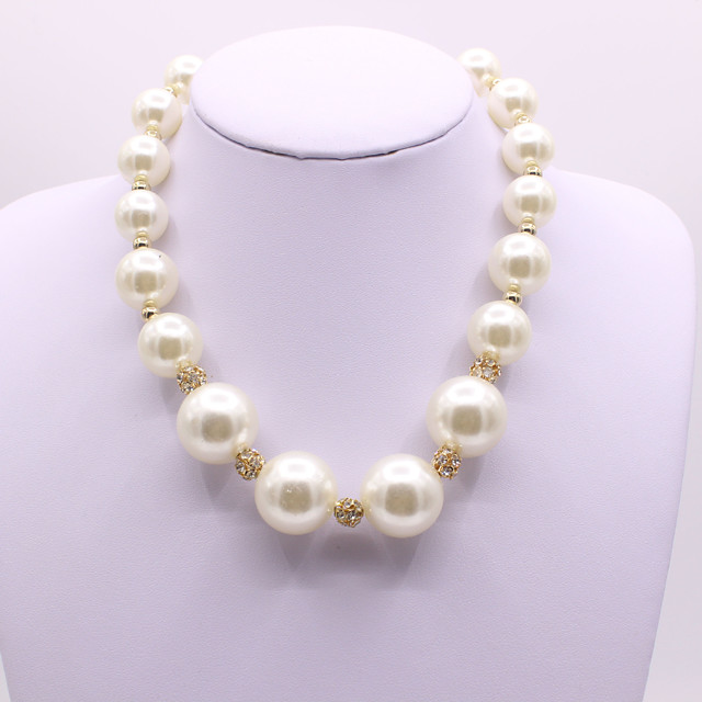 Women's Pearl Pearl Necklace Classic Artistic Elegant Imitation Pearl White 40+5 cm Necklace Jewelry 1pc For Wedding Gift Engagement