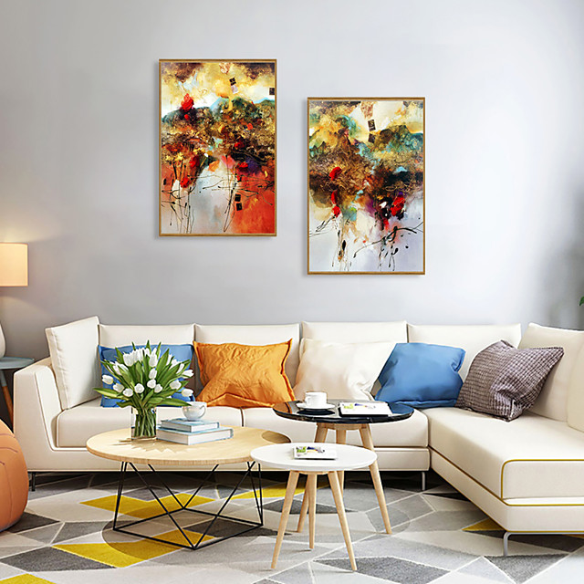 Framed Art Print Framed Set - Abstract PS Oil Painting Wall Art
