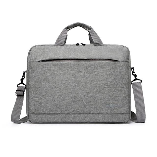 Unisex Nylon Laptop Bag Zipper Letter Daily Office & Career Handbags Black Red Dark Blue Gray