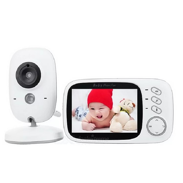 Baby Monitor Temperature Sensor Night Vision Babysitter Wireless Video Baby Care with 3.2Inches LCD 2 Way Audio Talk Surveillance Security Camera VB603