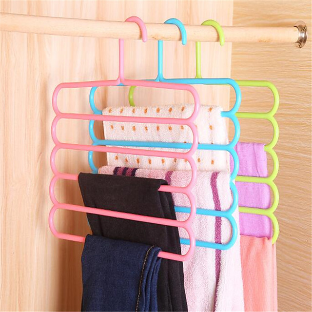 Plastic Multilayer / Non-Slip Pants / Clothing / Underwear Hanger, 1pc