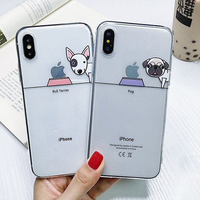 Shockproof TPU Dog Case for Apple iPhone 11 Pro Max X XR XS Max 8 Plus 7 Plus 6 Plus SE Back Cover