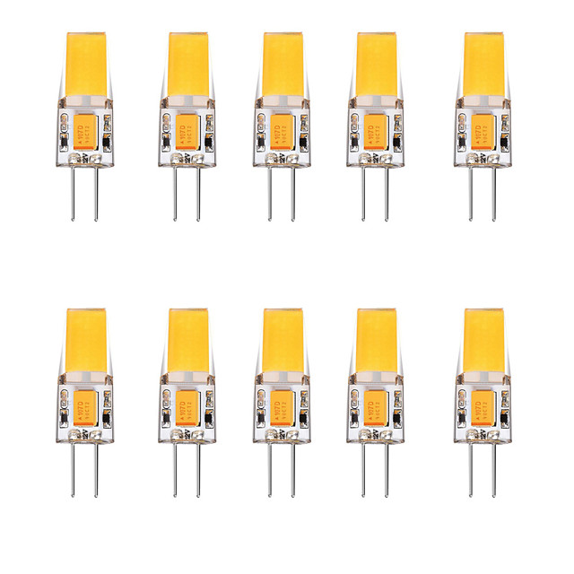 10pcs 2.5 W LED Bi-pin Lights 3000 lm G4 1 LED Beads Warm White White 12 V