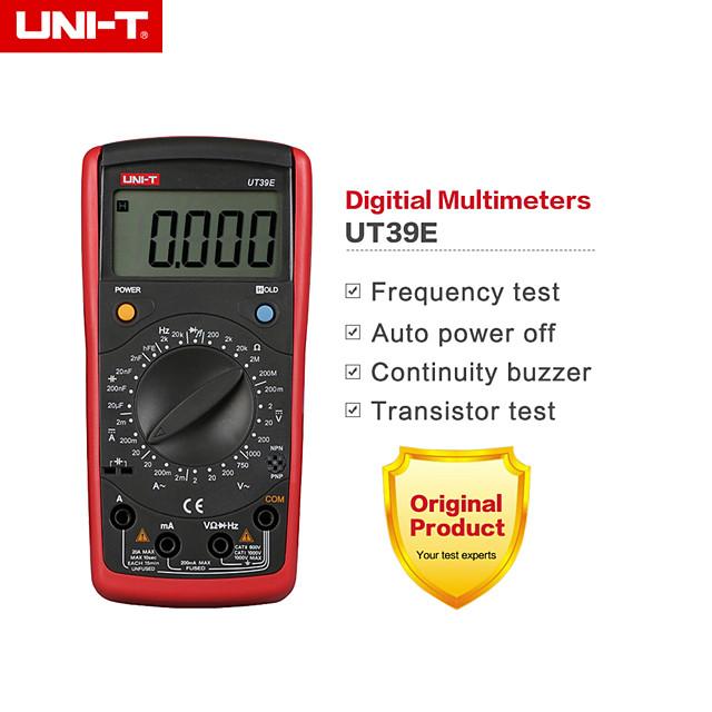 uni-t ut39e 4 1/2 ручной диапазон цифровой мультиметр транзистор постоянный ток переменный ток сопротивление емкость измеритель частоты
