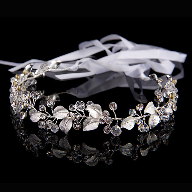 Women's Hair Jewelry For Wedding Engagement Party Wedding Geometrical Crystal Alloy Silver 1 pc