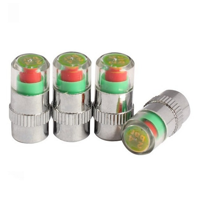 4PCS Upgrade Anti-theft High-precision Car Tire Pressure Monitor Vehicle Tire Valve Warning Cap Tire Pressure Gauge