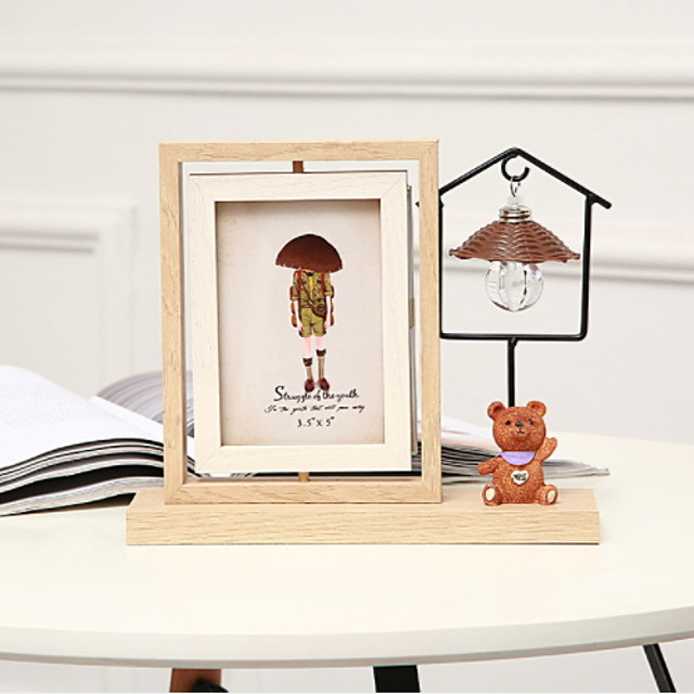 Modern Contemporary Wooden / Glasses Mirror Polished Picture Frames Wall Decorations, 1pc Picture Frames