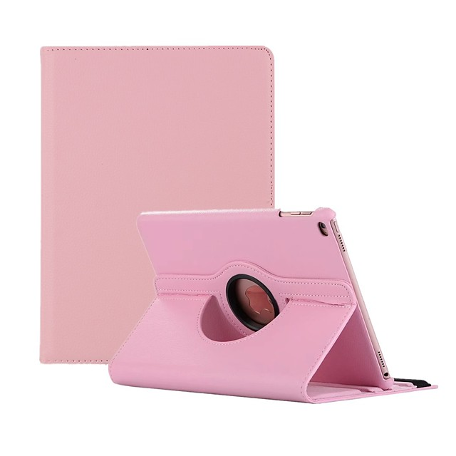 Case For Apple iPad Air / iPad 4/3/2 / iPad Mini 3/2/1 360° Rotation / Dustproof Full Body Cases Solid Colored Hard PU Leather / iPad (2017) / iPad Pro 10.5