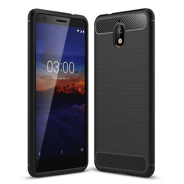 Case For Nokia Nokia 5.1 / Nokia 3.1 Dustproof Back Cover Solid Colored Soft Carbon Fiber