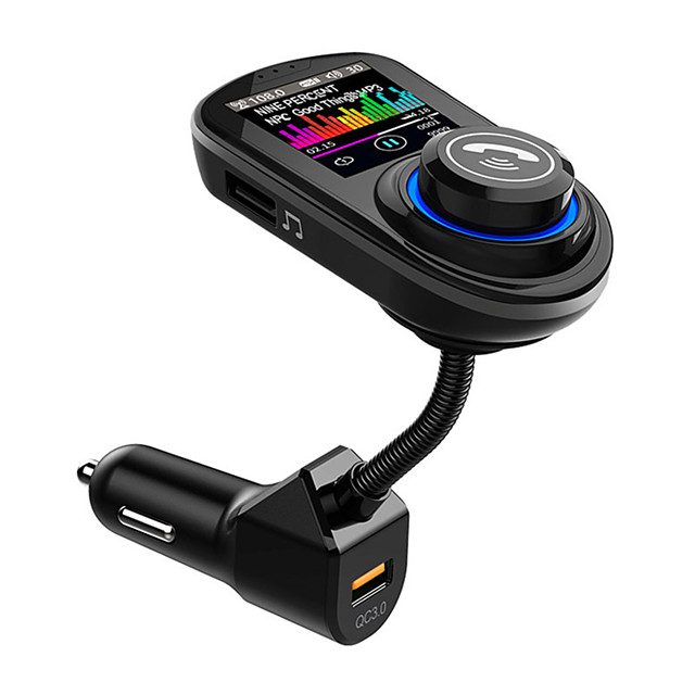 VR robot Bluetooth Handsfree Car Kit FM Transimtter Dual QC 3.0 QuicK Charge TF Card U Disk Audio Car MP3 Player G45