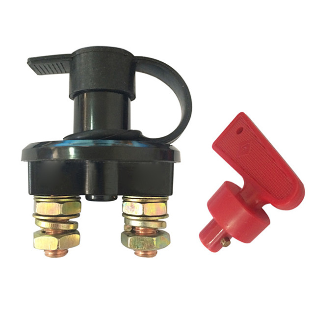 Truck Boat Car Battery Disconnect Switch Power Isolator 2 Hole Cut Off Kill Switch