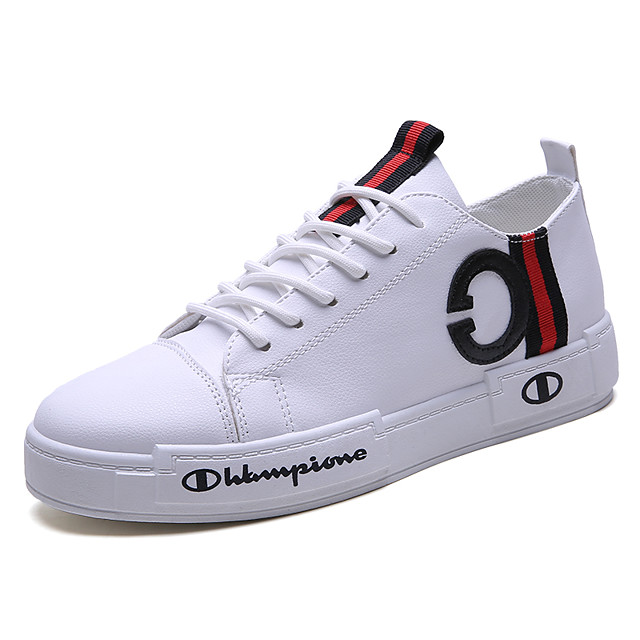 Men's Comfort Shoes Faux Leather Spring & Summer / Fall & Winter Casual / Preppy Sneakers Breathable Black / White