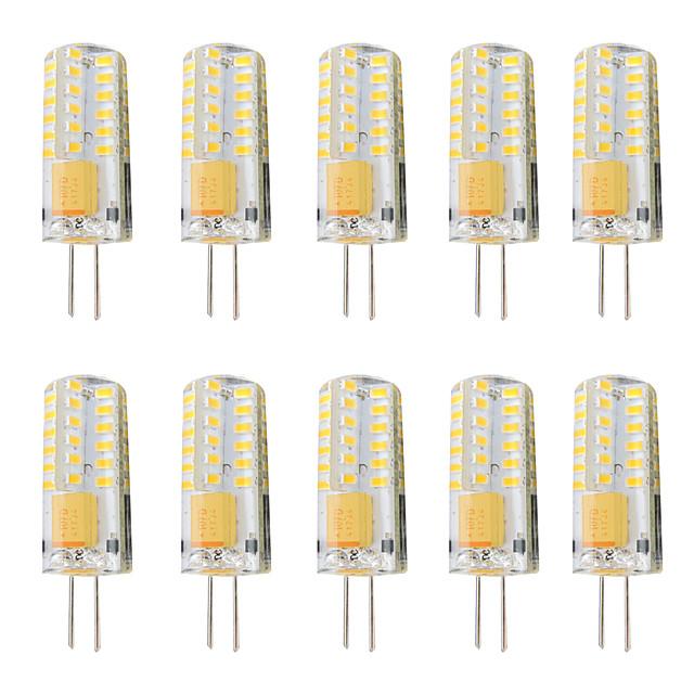 10pcs 3 W LED Bi-pin Lights 300 lm G4 T 48 LED Beads SMD 3014 Dimmable Warm White White 12-24 V